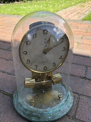 Rare Vintage Junghans Ato Electromagnetic Mantel Clock With Glass Dome