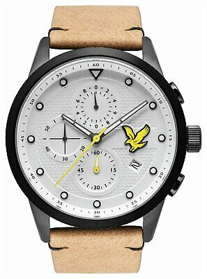 Lyle and Scott Regal Chronograph Men's Leather Strap Watch - Brown