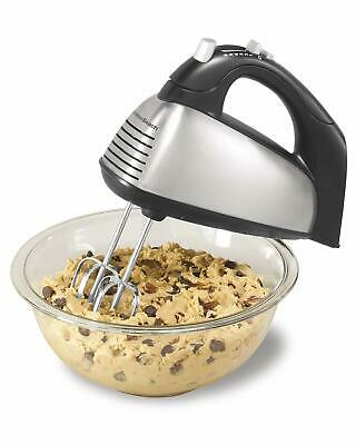 Hamilton Beach 62650A Classic 6-Speed Electric Hand Mixer, with Snap-On Case