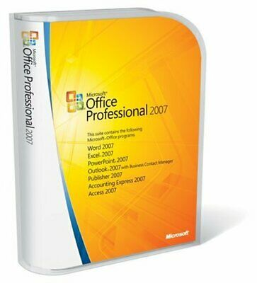 MS Microsoft Office Professional Plus 2007 Productkey Vollversion