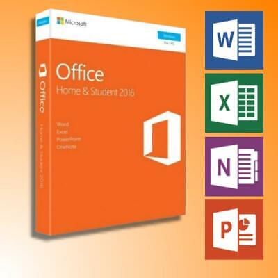 MS Microsoft Office 2016 Home and Student Vollversion für 1 PC Produktschlüssel