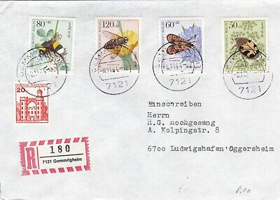 Berlin 1984 Youth Welfare Pollinating Insects Registered Cover VGC