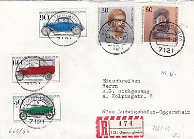 Berlin 1982 Youth Welfare Motor Cars Registered Cover VGC