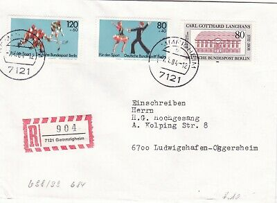 Berlin 1983 Sports Promotion Fund Registered Cover VGC