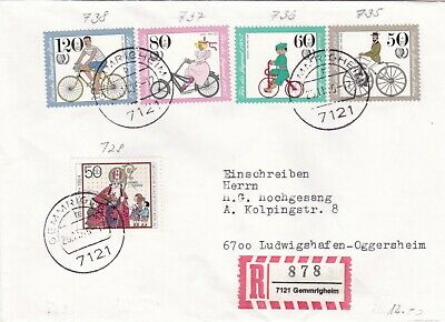 Berlin 1985 Youth Welfare Fund Cycles Registered Cover VGC