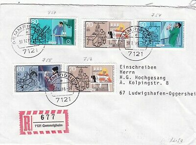Berlin 1986 Youth Welfare Trades Registered Cover VGC