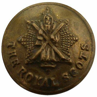 Original The Royal Scots Regiment Scottish SMAL Tunic Button 18mm - MD23