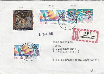 Germany 1987 Sport Promotion Fund Registered Cover VGC