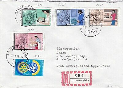 Germany 1987 Youth Welfare Trades Registered Cover VGC