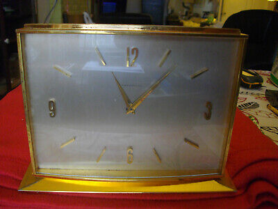 Tiffany & Co. Mantle Clock 8-day Swiss movement Brass Works Vintage 1930s RARE!