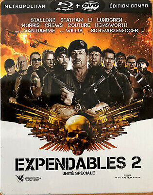 Expendables  2 Unite Speciale Blu-Ray + Dvd  Boitier Metal   Tbe