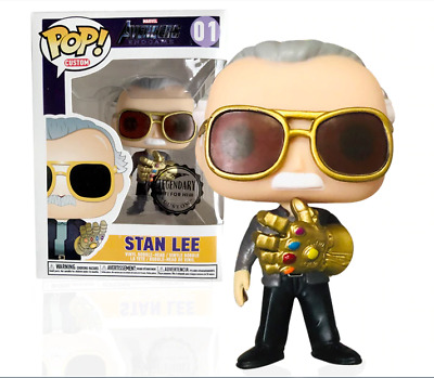 FUNKO POP Avengers :Endgame Father of Marvel Stan Lee & QUAKE
