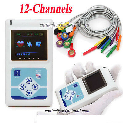 Contec TLC5000 12-Channel 24H Dynamique Holter Ecg Oled PC Synchro Analyse