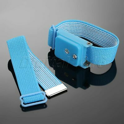 1pc Cordless Wireless Antistatic Discharge Cable Wrist Band Prevent Static Blue