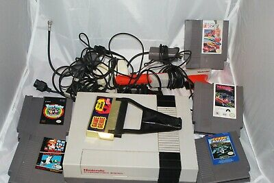 Nintendo Nes Console system with games, hookups, power supply