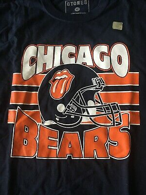 The Rolling Stones No Filter Tour Soldier Field Chicago Bears T Shirt XL