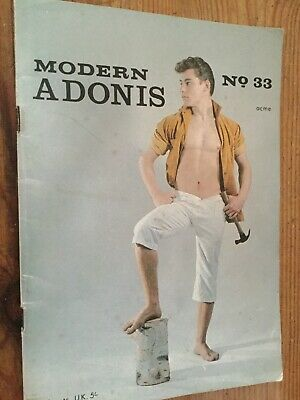 MODERN ADONIS Rare Vintage Muscle Boy Model Magazine Gay Interest Nr 33