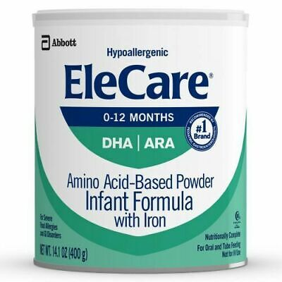 EleCare For Infants (0-12 months) Unflavored Powder with DHA/ARA (6 Cans)