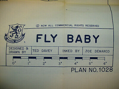 TED DAVEY FLY Baby RC Model Airplane Plans, RCM Plan #1028 w/ Build  Instructions