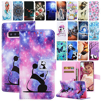 For Samsung Galaxy A50 A30 A70 A20 Case Patterned Magnetic Leather Wallet Cover