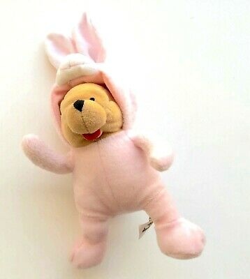"Walt Disney World Parks Winnie The Pooh 8"" Plush Bunny Costume Easter Bean Bag"
