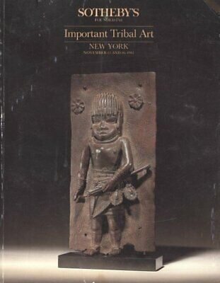 Sotheby's Important Tribal Art New York 11/15/85 Sale 5374 African Oceanic -C