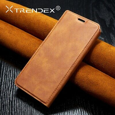 For iPhone 11 Pro Max XS Case Genuine TRENDEX Magnetic Leather Wallet Flip Cover