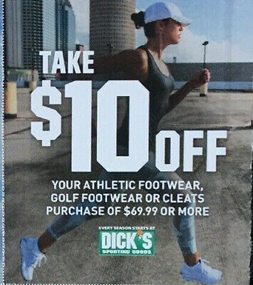 DICK'S SPORTING GOODS $10 Off FOOTWEAR SHOES CLEATS Expires 8/11/19 - FAST SEND