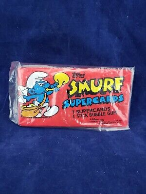 1982 Topps Smurfs Super Cards Unopened Wax Pack