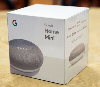 New Google Home Mini Smart Voice Assistant - Chalk
