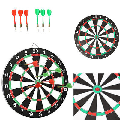 Large 14 Dart Board Set Dartboard Family Party Game Fun With 6 Darts