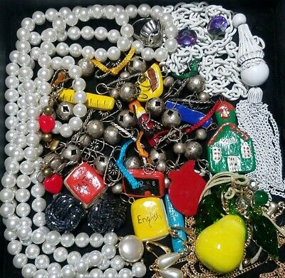 Vintage Now Unsearched Untested Junk Drawer Jewelry Lot Estate Find Most Wearabl
