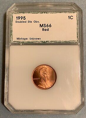 1995 Lincoln Cent Doubled Die Obverse Red