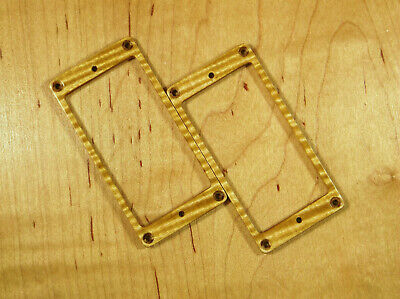 Flame Maple Guitar Humbucker Pickup Wood Mounting Ring Set Fits PRS Ibanez Suhr