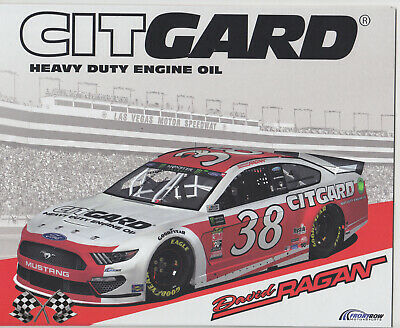 2019 David Ragan Citgard Engine Oil Nascar Monster Energy Cup Series Postcard
