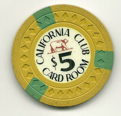 $5 Chip from the California Club Casino, Las Vegas, Nevada