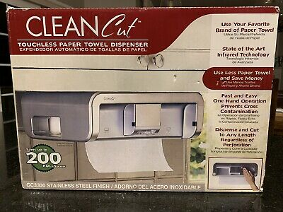 New! CLEAN CUT CC3300 AUTOMATIC TOUCHLESS UNDER CABINET PAPER TOWEL DISPENSER