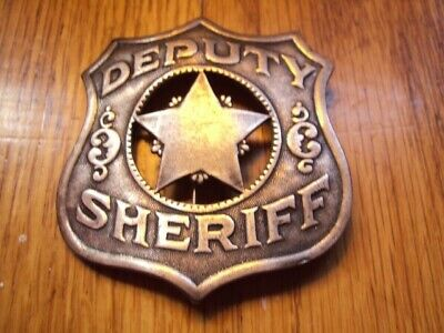 Obsolete RARE Antique Deputy Sheriff Badge Western Americana Hard to Find Piece!
