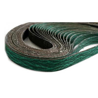 Abrasive Sanding Belts 12.7x457.2mm 20Pcs 40Grit Metalworking Accessories