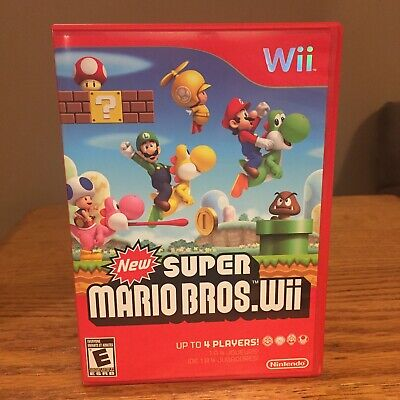 """New""* Super Mario Bros.  (Wii, 2009) Nintendo 69150A Case & Instruction Booklet"