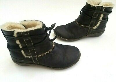 6cf42379ac6 UGG AUSTRALIA WOMENS Cove #5178 Sheepskin Brown Suede Leather Ankle ...