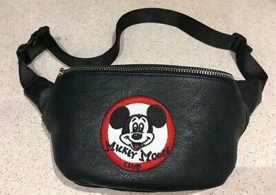 NWT! Loungefly Disney Parks Exclusive Mickey Mouse CLUB HIP PACK fanny bag