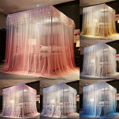 Romantic Home 3 Corners Bedding Canopy Mosquito Net Gradient Colors Netting New