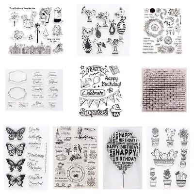 DIY Transparent Silicone Clear Stamp Cling-Seal Scrapbook Embossing Album-Decor