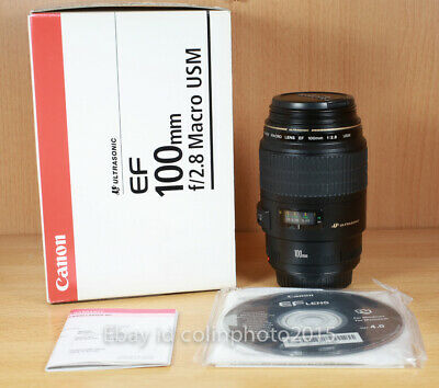 Canon EF 100mm f/2.8 USM Lens used in excellent condition