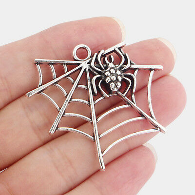 ❤ Large Spider Web//Skull Charm//Pendant ❤ Pack of 5 ❤ CRAFTING//JEWELLERY MAKING ❤