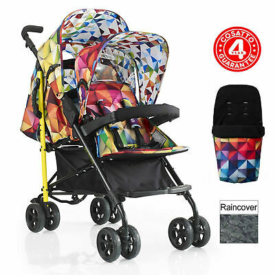 Cosatto Shuffle Tandem Double Pram Pushchair Spectroluxe