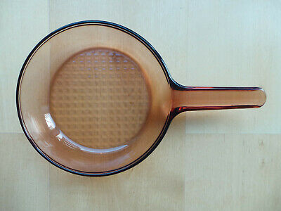 """Vision Corning Amber Glass 7.25"""" Wide Frying Pan / Skillet"""
