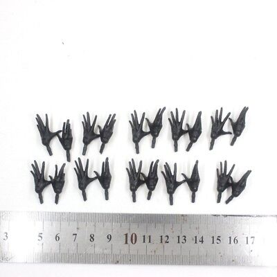 "10 PAIR OF THE Marvel Legends Series Black HAND Open For 6"" Figure"