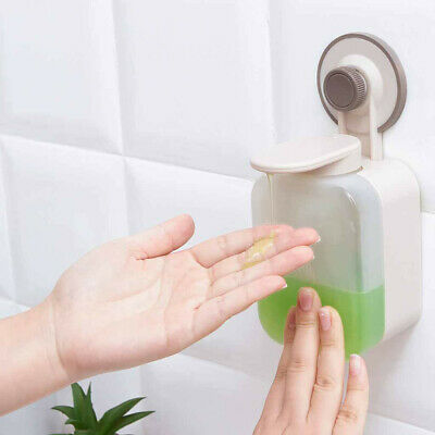 Suction Cup Soap Dispenser Wall Mounted ABS Waterproof Soap Box for Bathroom UK